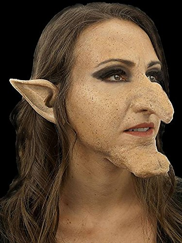 Witch Hasel Nose & Chin Appliance Set (Halloween Prosthetics)