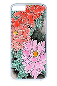 iphone 5c Case, iphone 5c Cases -Peonies at Night Polycarbonate Hard Case Back Cover for iphone 5c inch White