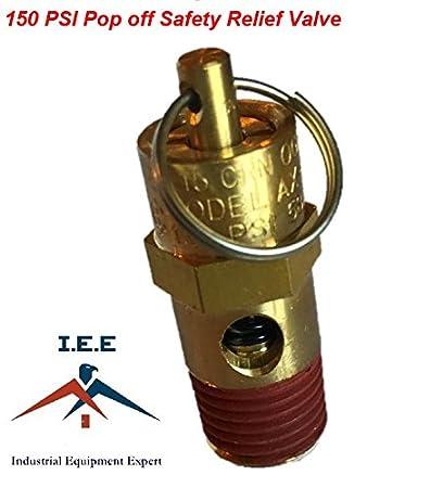 "New 1/4"" NPT 150 PSI Air Compressor Safety Relief Pressure Valve, Tank Pop Off"