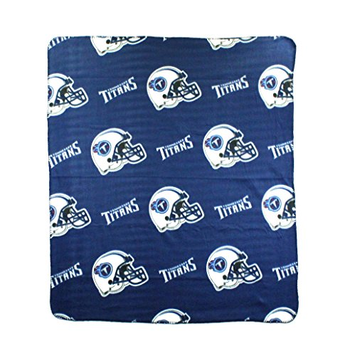 Tennessee Titans Blanket - The Northwest Company NFL Tennessee Titans Repeated Logo Fleece Throw, 50-inch by 60-inch
