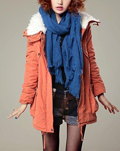 Giacca Misto Leggeri Invernale Outwear Cappotti Arancione Imbottiti Cotone Cihui Donne Parka Puffer Cappotto Giù R41WAA