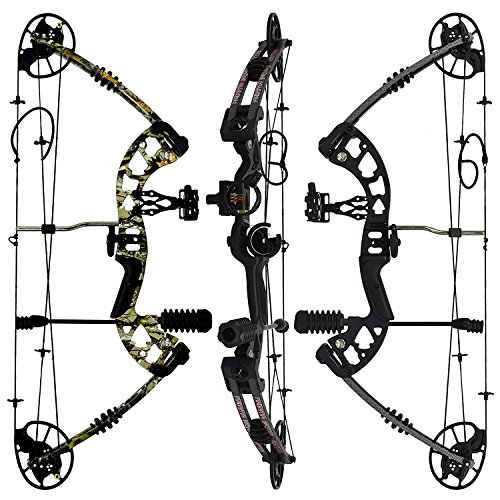 "Bow Products : RAPTOR Compound Hunting Bow Kit: LIMBS MADE IN USA | Fully adjustable 24.5-31"" Draw 30-70 LB pull 