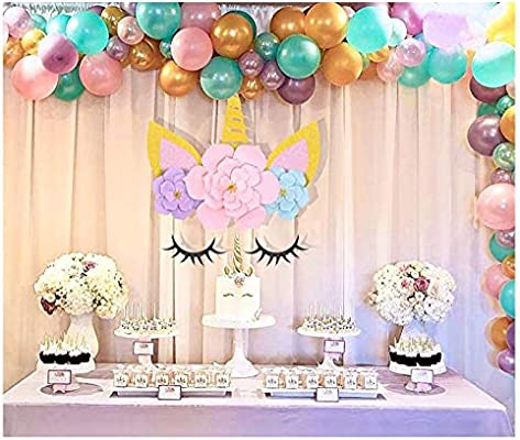 Unicorn Party Supplies and Decorations Backdrop for Girls