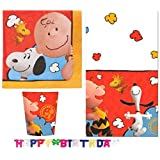 Peanuts, Charlie Brown and Snoopy Party Pack for 8 Guests With Birthday Banner (26 Pieces) by Party Supplies