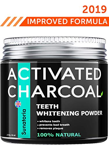 Activated Charcoal Teeth Whitening Powder - Product of UK by