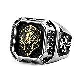 gold lion head ring - LILILEO Jewelry Titanium Steel Plated Gold Lion Head Ring For Men's Rings