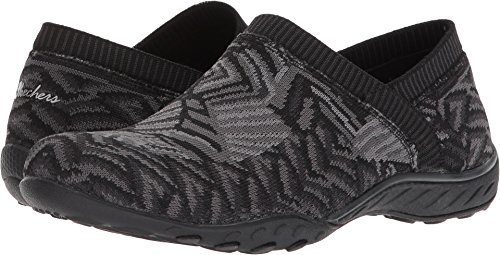 Skechers Women's Breathe-Easy - Lassie Black/Gray 7.5 B US