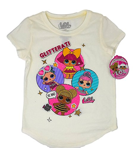 Girls' L.O.L. Surprise! Short Sleeve Glitterati T-Shirt (Multicolor, Small 6/6X)