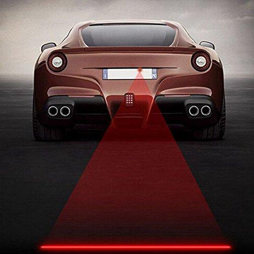 iTimo Car Styling Anti-Collision LED Laser Fog Lamp Auto Motorcycle Bike Running Tail Light Brake Parking Lamp 12V...