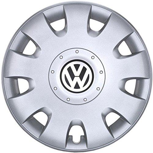 Volkswagen 1t0071455 Rueda Juego de tapacubos, Color Plateado, 15 Pulgadas: Amazon.es: Coche y moto