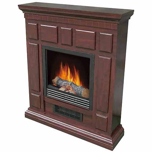 """Portable Electric Heater Indoor Fireplace with 32"""" Mantle..."""