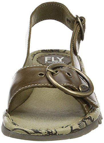 FLY London Tram, Zapatos con Tira de Tobillo para Mujer Verde (Olive)