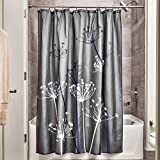 Dark Purple Shower Curtain InterDesign Thistle Shower Curtain, Standard - Gray and Purple