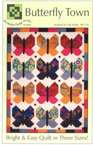 Butterfly Town by Brookshier Design Studio Fat Quarter Friendly 3 Size Options