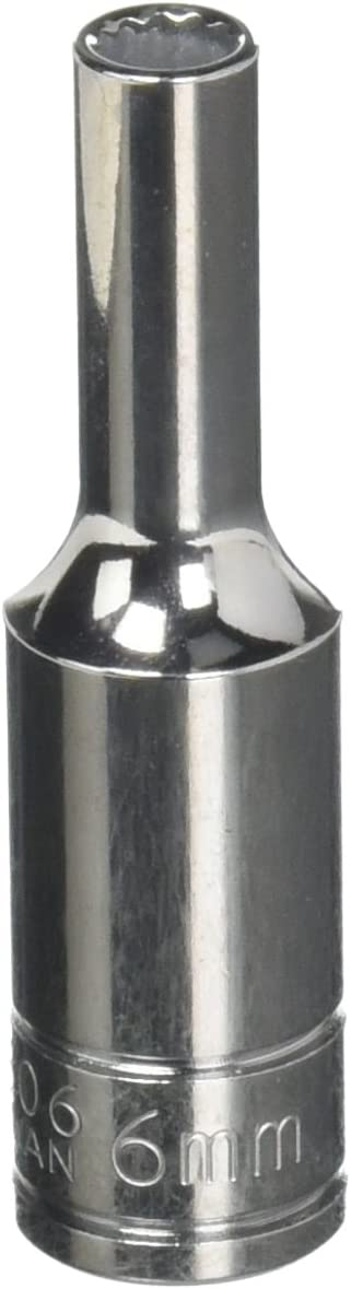 Williams 31806 6mm Deep 12 Point Socket with 3//8-Inch Drive