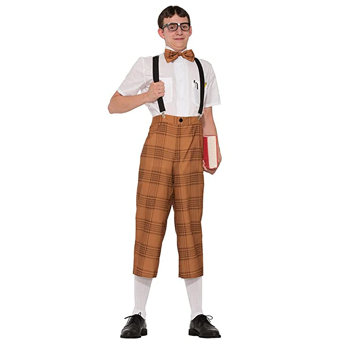 50s Costumes | 50s Halloween Costumes Mr Nerd Adult Costume- $24.89 AT vintagedancer.com