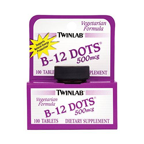 Twinlab, B-12 Dots, 500mcg, 100 Tablets - B-12 Dots Sublingual