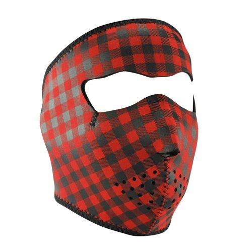 ZANheadgear Neoprene Full Face Mask, Buffalo (Plaid Full Face Helmet)