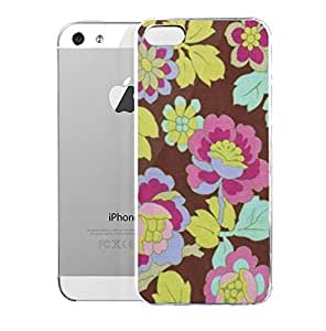 phone covers Light weight with strong PC plastic case for iPhone 5c Patterns Floral Patterns Cutting Garden In Mocha