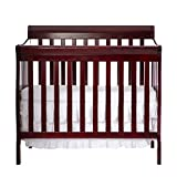 Dream On Me 4 in 1 Aden Convertible Mini Crib, Cherry