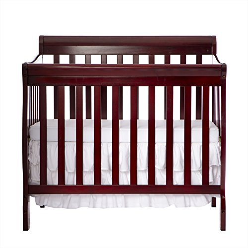 Cherry Baby Cribs (Dream On Me 4 in 1 Aden Convertible Mini Crib, Cherry)