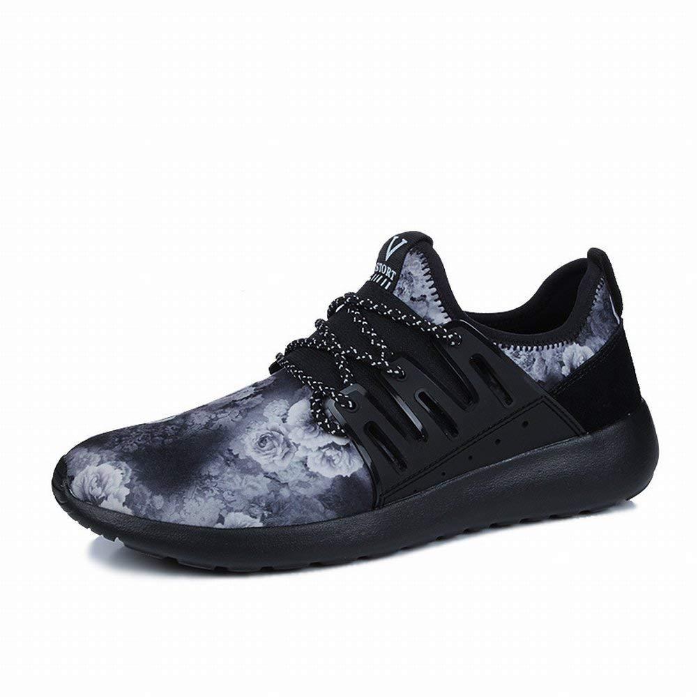 Männer Schuhe Fliegen Mesh Atmungsaktiv Blauen Trend Freizeitschuhe Licht Outdoor-Schuhe (Farbe   schwarz grau Größe   EU 40)