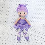 "Butterfly Craze 17"" Ballerina Doll for Little Girls' Ballet Dance Recital and Birthday Gifts (Purple)"