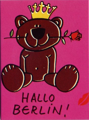 Deko-Magnet Berliner Bär Hello Berlin, pink, das Berlin-Souvenir City Souvenir Shop