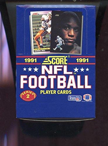 (1991 Score Football Wax Pack Box Series 2 TWO Set Brett Favre ROOKIE Card RC)