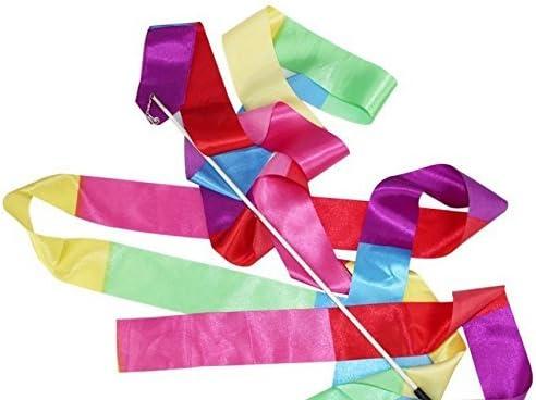 Amazon.com : YingYing Fitness Sport Rainbow Color Each 5pcs/lot 4m Gym Dance Ribbon Rhythmic Art Gymnastic Streamer : Sports & Outdoors