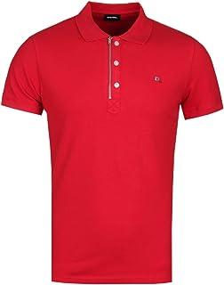 Diesel Kalars Red Zip Polo Shirt