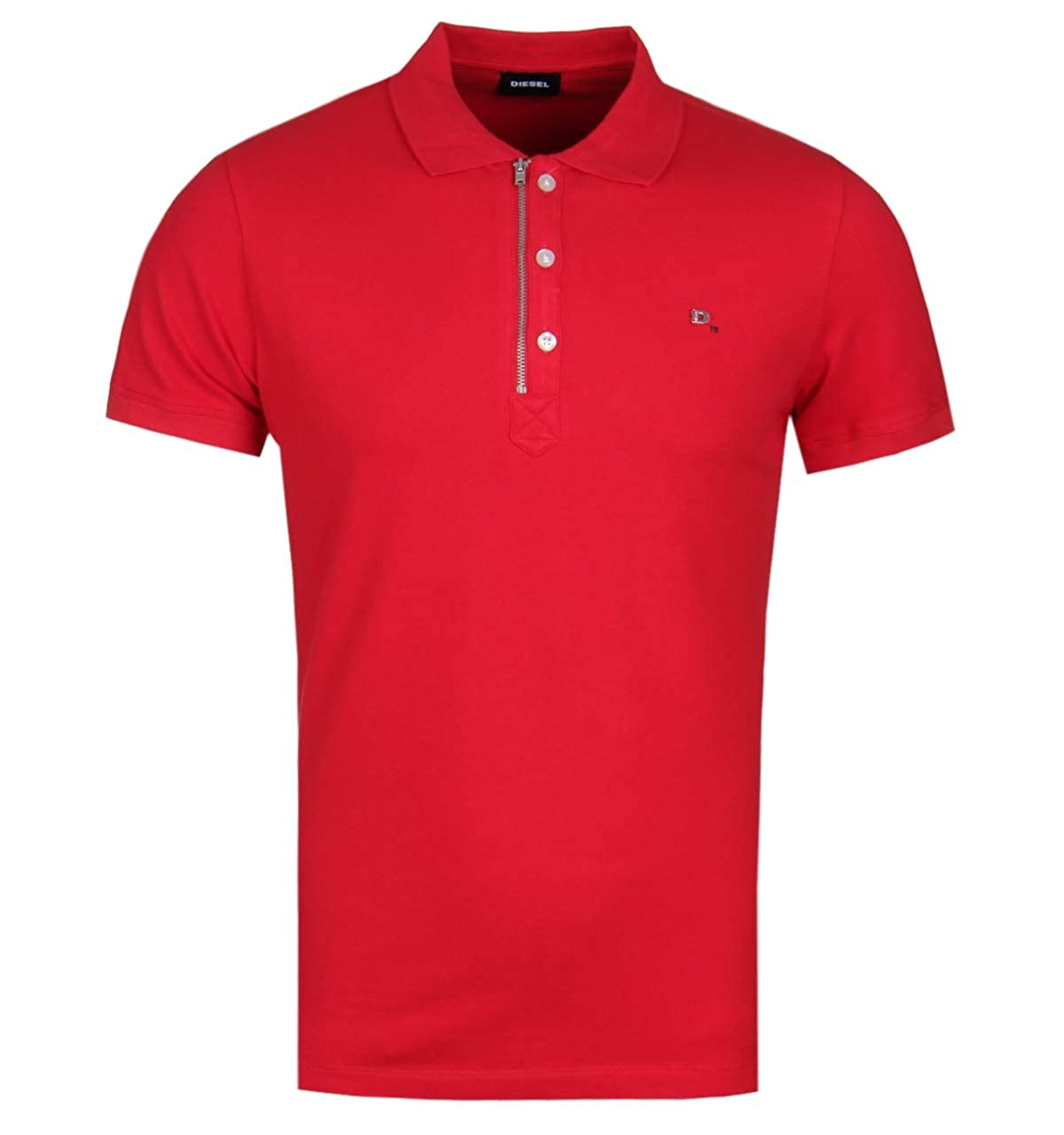 Diesel Mens Stretch Polo Shirt T-KALARS red