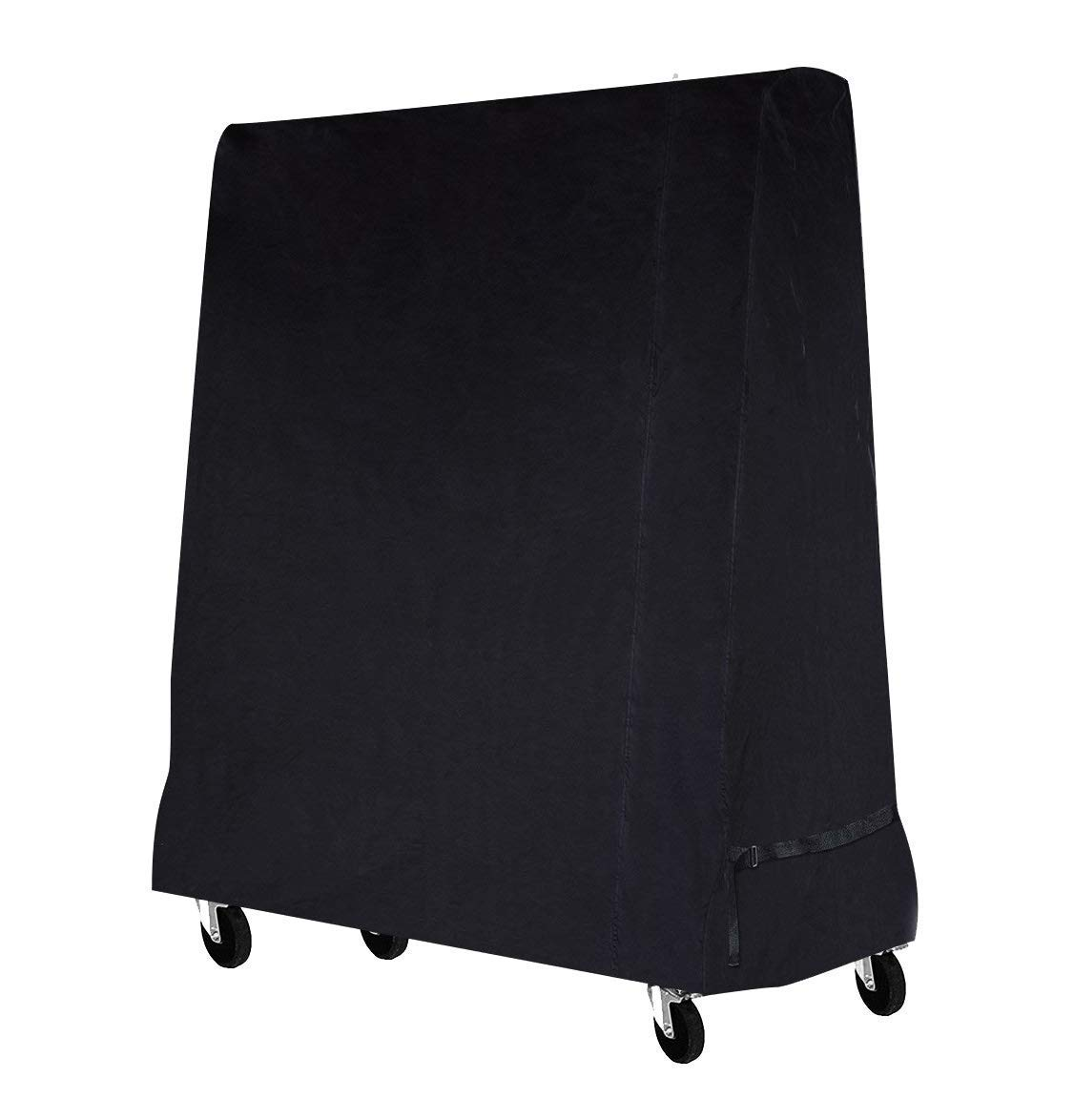 SIRUITON Table Tennis Table Cover Oxford Polyester Indoor/Outdoor Ping Pong Cover Black 165 x 70 x 185 cm