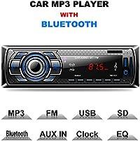 Autoradio Bluetooth, CompraFun Vivavoce Radio Stereo da Auto, Supporto Lettore MP3 Card SD AUX, Chiamata a Mani Libere, Funzione Radio, e di Archivio