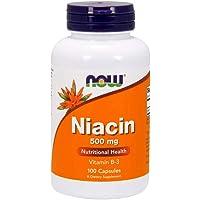 [海外直送品] ナウフーズ   Niacin 100 Caps 500Mg