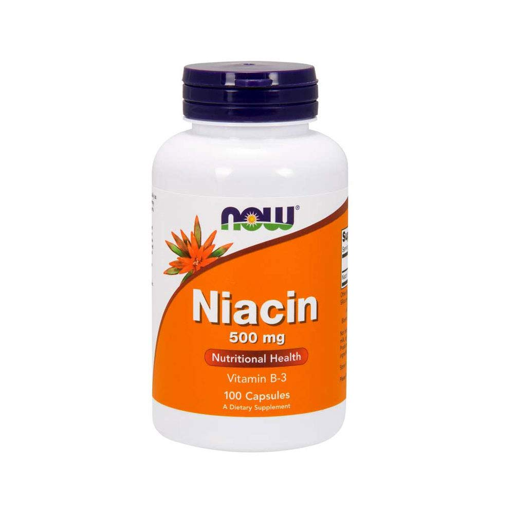 Now Supplements, Niacin (Vitamin B-3) 500 mg, 100 Capsules