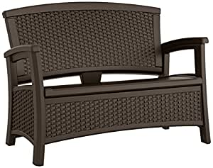 Suncast elements loveseat with storage java for Banco exterior internet 24