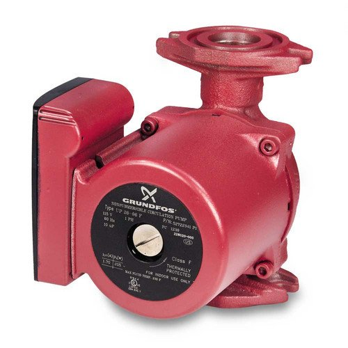 UP - 1/12 HP - Single-Speed Circulation Pump - Cast Iron - GF 15/26 Flange by Grundfos