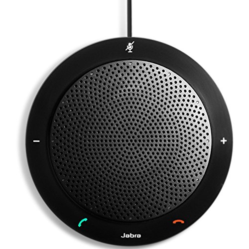 - Jabra Speak 410 Portable Speaker for Music and Calls Black