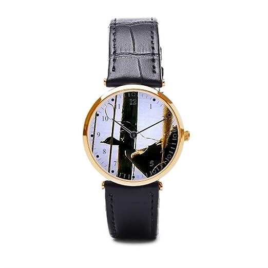 Reloj de pulsera, aromar tiendas canadageese Wild Wildlife piel banda relojes para hombres: Amazon.es: Relojes