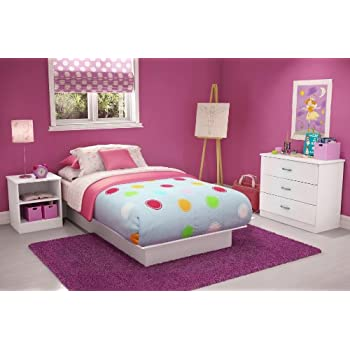 This Item Libra Twin Platform 3 Piece Bedroom Set In Pure White