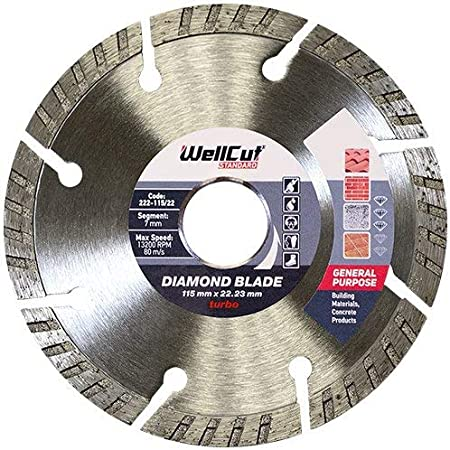 Granite Patio Slabs Brick WELLCUT Extreme Diamond Blade 300 x 25.4 mm Turbo Cutting Disc for Concrete Professional High Quality Natural Stone