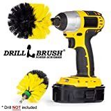 Drill Brush Grout/Shower Cleaner - Power Scrubber Brush/Bathroom Spin Brush - Drill Scrubber Attachment/Shower Cleaning Brush/Toilet Brush/tub, tile, sinks, baseboard, flooring, porcelain