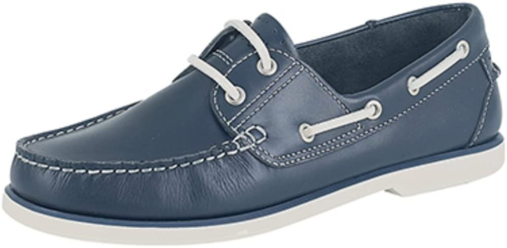 Mens Boys Leather Boat Shoes. Brown Or