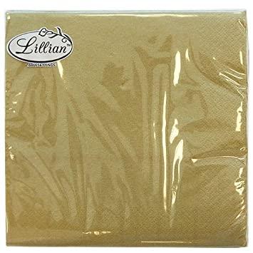 Lillian Tablesettings 40-Piece Lunch Napkins Set Gold Texture