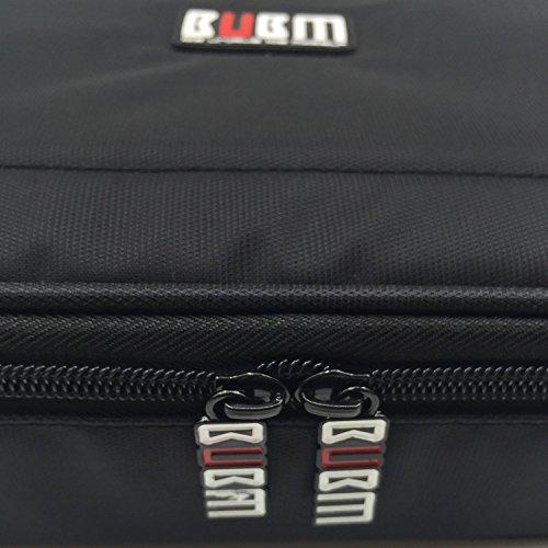 BUBM 4pcs/Set Travel Electronic Organizer Gadgets Electronics Accessories Storage Bag for Memory Card USB Battery Power Bank Flash Hard Drive Safe Space Cord Organizer(Black) by BUBM (Image #4)