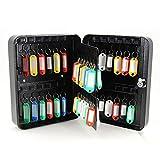 48 Safe Hook Key Box Home Car Lock Storage Case Cabinet Wall Mount Black