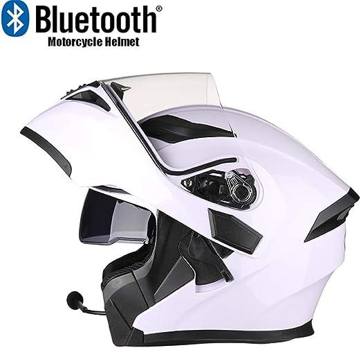 Gedme-Helmet Casco Bluetooth para Motocicleta, Casco Plegable para ...