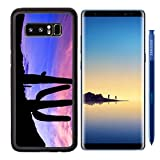 MSD Premium Samsung Galaxy Note8 Aluminum Backplate Bumper Snap Case IMAGE ID: 29217164 Saguaro Silhouetted at Sunset Recommended with Reviews
