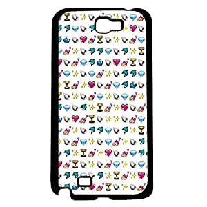 Cute Pink Girly Emoji Baclground Hard Snap on Phone Case (Note 2 II)